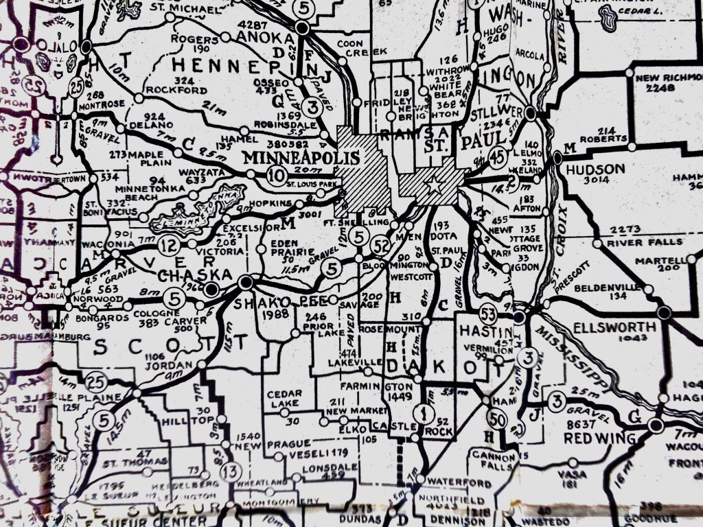 Hudson Minnesota Map, 1922