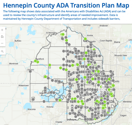 Every non-ADA-compliant barrier in Hennepin County