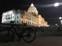 James' State Capitol visit via ebike