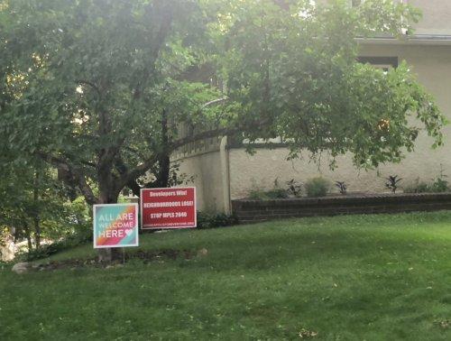 anti-developer lawn signs