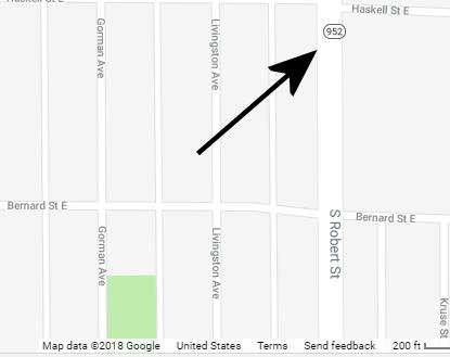 Map of Robert Street MN 952