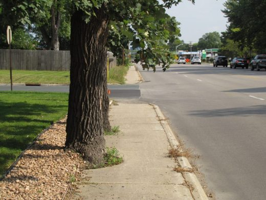 Sidewalk by Death Road