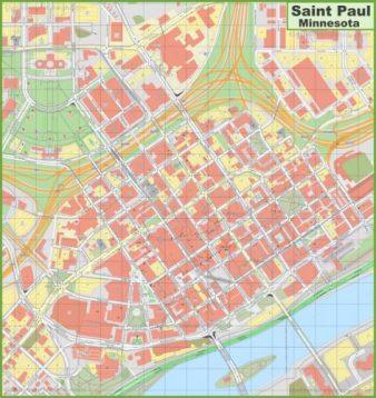 Downtown Saint Paul Map Example