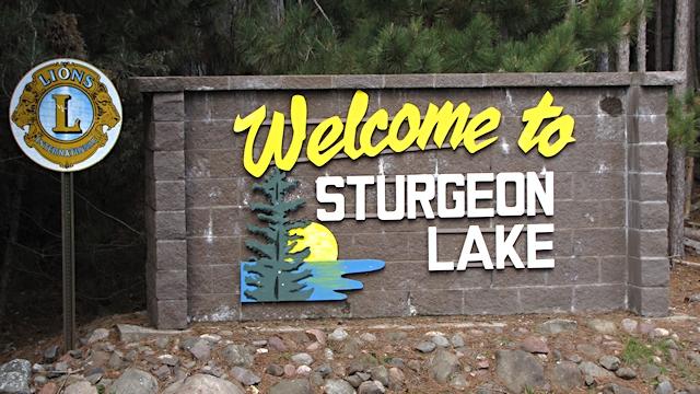 Sturgeon Lake Sign