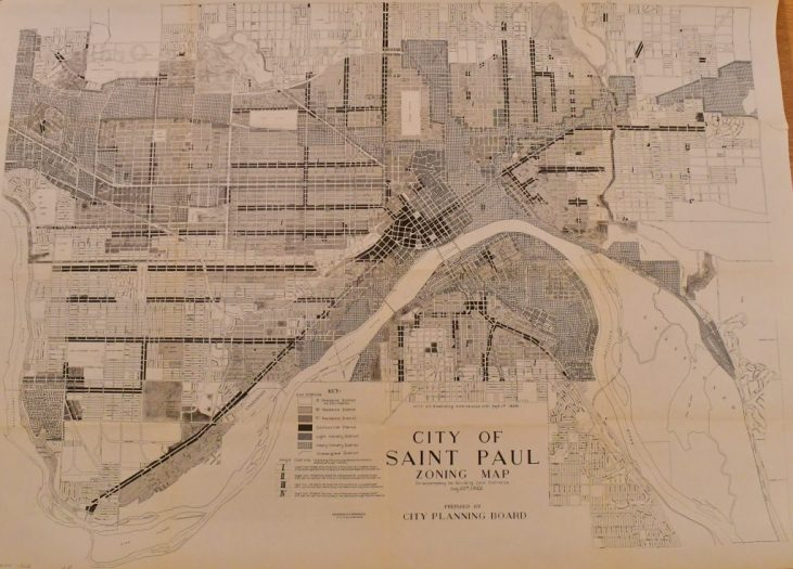 Saint Paul's 1922 zoning map (MN Historical Society)