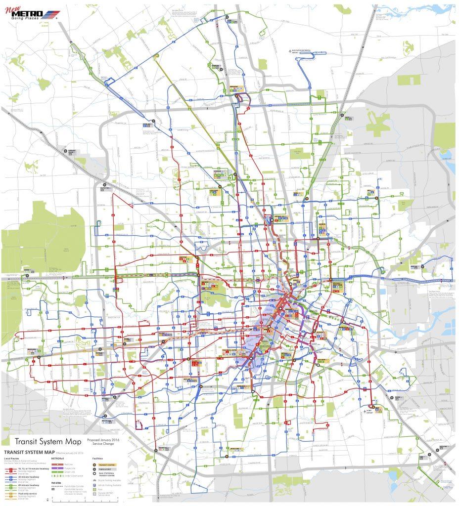 Houston transit system map
