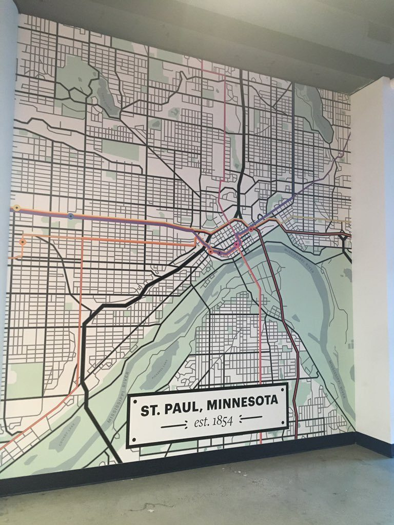 Weird Port Authority St Paul Map