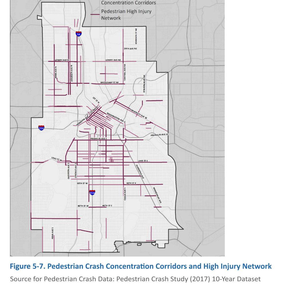 Minneapolis Crash Corridor Map
