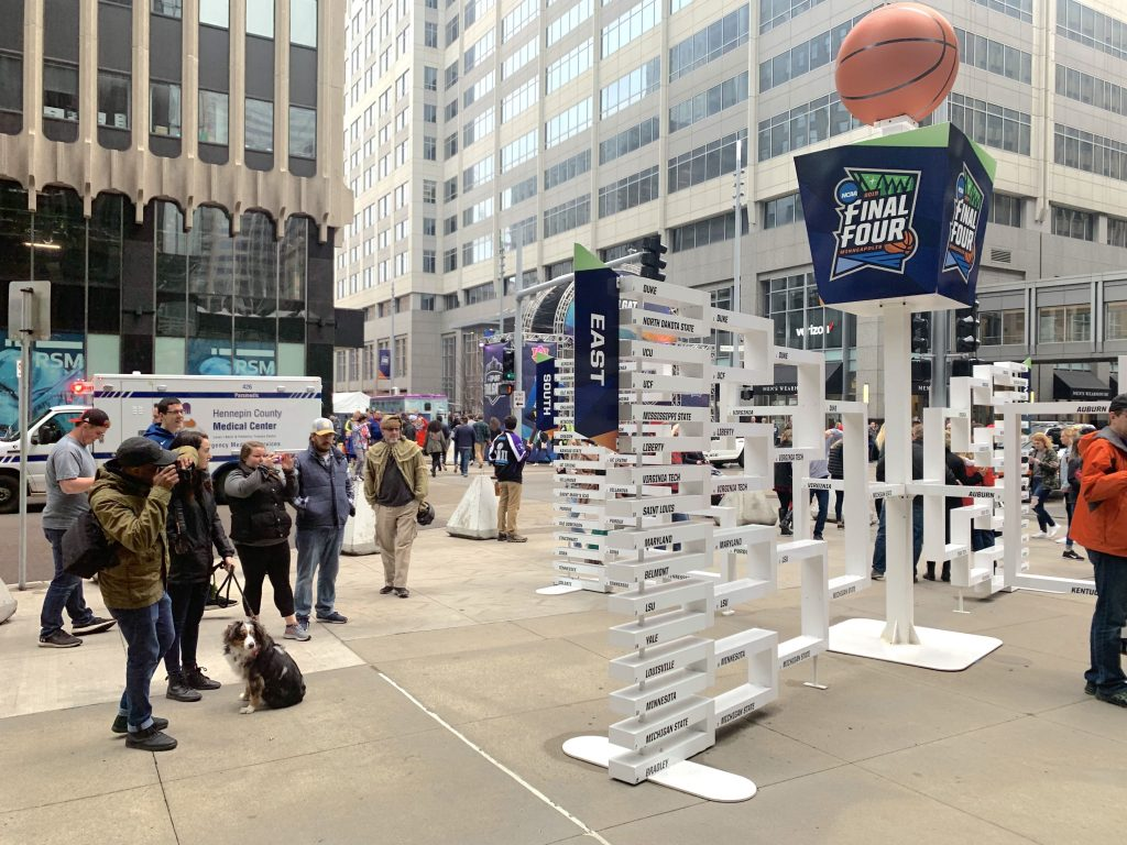 Final Four Nicollet Mall Ids Bracket Sculpture 2019 04 06