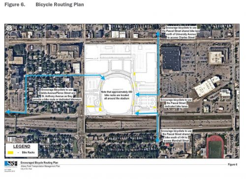 Allianz Field - Bicycle Routing Plan