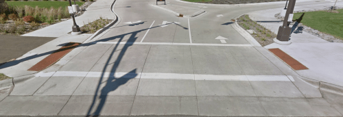 Tabled intersection at Bruce Vento Trail and Olive Street