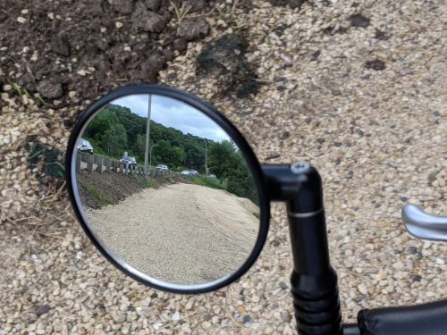 View of patch in mirror