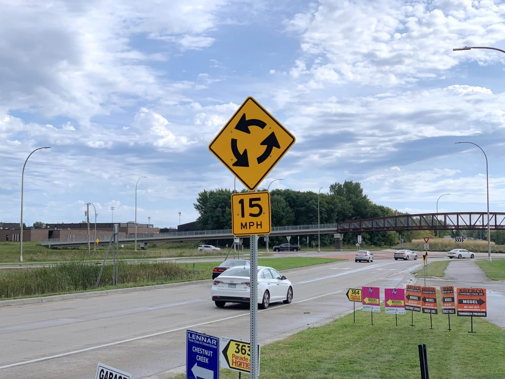 Forest Lake Roundabout 15 Miles Per Hour