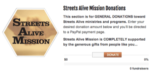 Streets Alive Donations