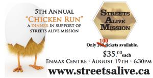 chicken run dinner only 100 tickets left