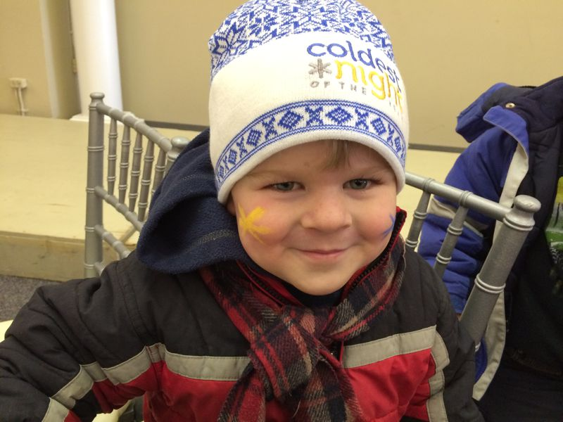 Some kiddos joining the walk with some CNOY spirit!
