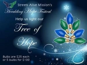Light the Tree of Hope - Heralding Hope Streets Alive