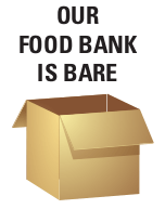 our foodbank is bare - streets alive mission lethbridge