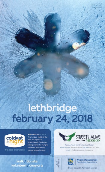 Coldest Night of the Year Lethbridge 2018