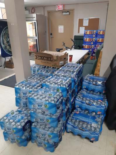 Derek purchased all the water in stock at London Road Market and brought it to the Mission on Friday afternoon!