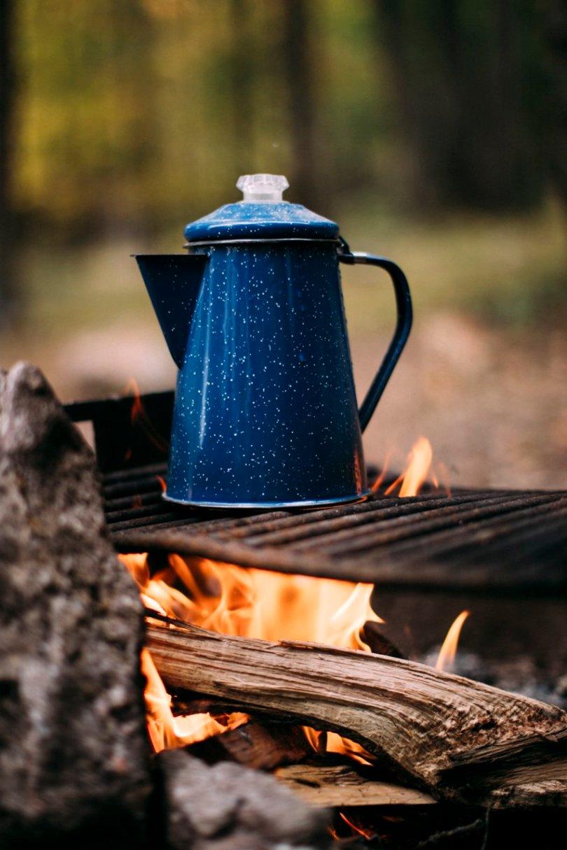 Camp coffee fireside | streetsandstripes.com