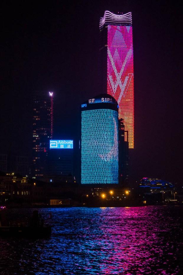 LED lit towers