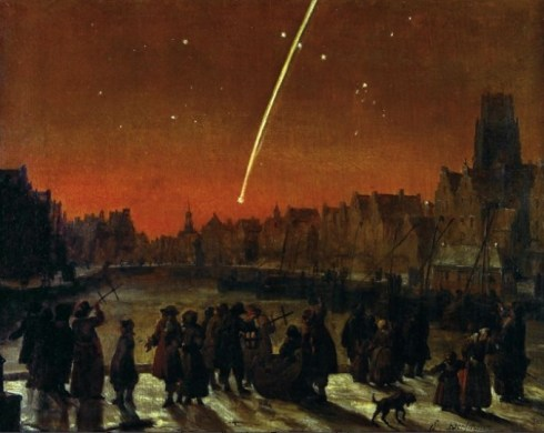 Comet over Rotterdam Verschuier1680