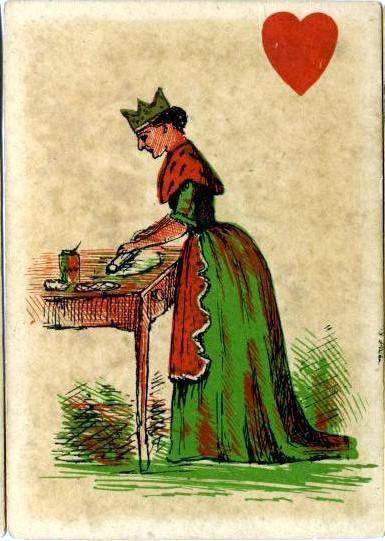 Queen of Hearts Nursery Rhymes deck card