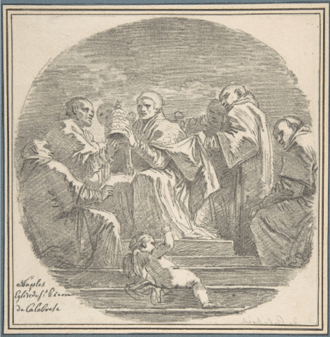 Saint Celestine V Renouncing the Papacy, after Mattia Preti Fragonard MET