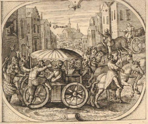 Assassination Henri IV German Broadside 1610 BM