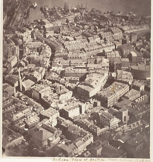 Boston Balloon View 1860