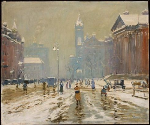 Boston Copley Square 1908 Arthur Clifton Goodwin MFA
