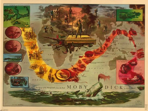 Literary Maps Moby Dick