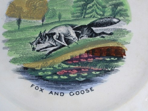 Fox and Goose plate detail