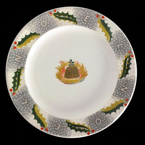 Christmas Pudding Plate