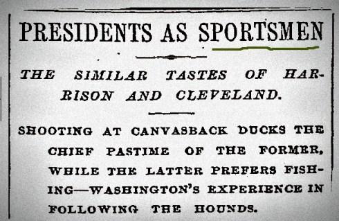 Presidents as Sportsmen