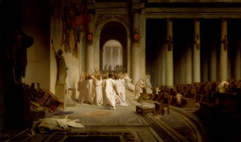 Ideas of March Death of Caesar Gerome 1867