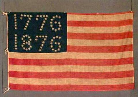Fabric Flag NYHS 1876