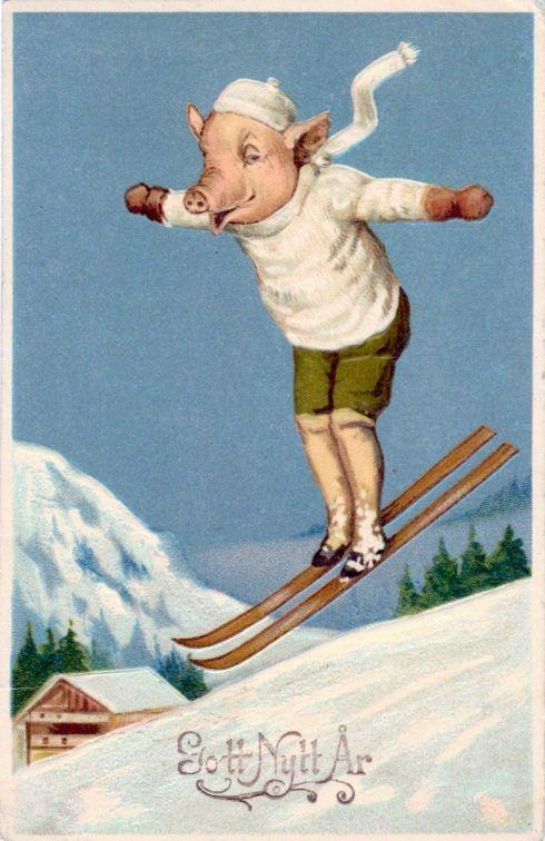 Porcine New Year Swedish pre-war