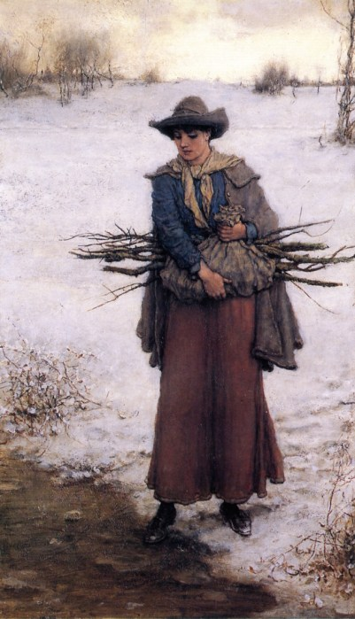 Boughton Gathering Firewood in the Winter