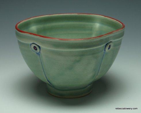 Green Button Soup Bowl