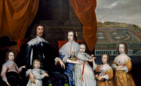 NPG 4759; The Capel Family by Cornelius Johnson