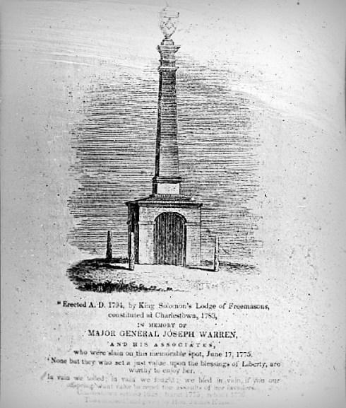 Warren Memorial Bunker Hill 1794