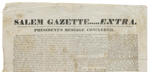 Salem Gazette 1834