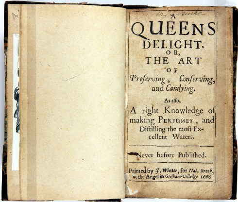 Queens Delight Yale Bodleian Cover