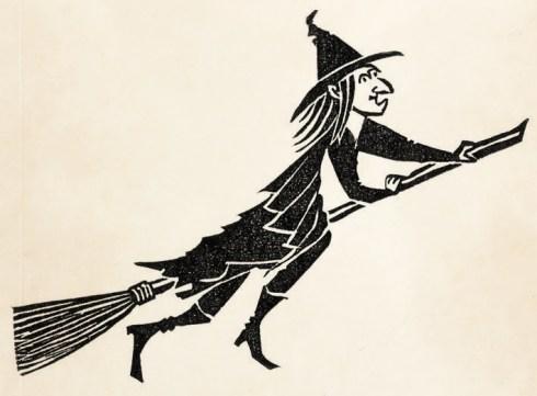 Melinsky Witch Linocut