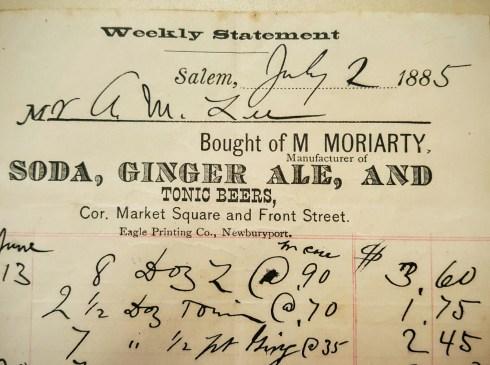 Derby Square billhead 1885