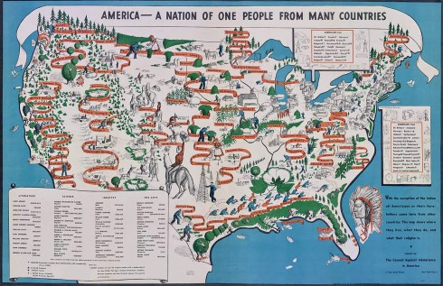 Pictorial Map America 1940 Osher