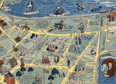 Pictorial Map Scott-Salem 1960