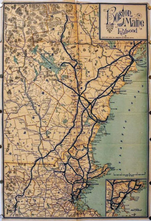 Train Tour Map 1902